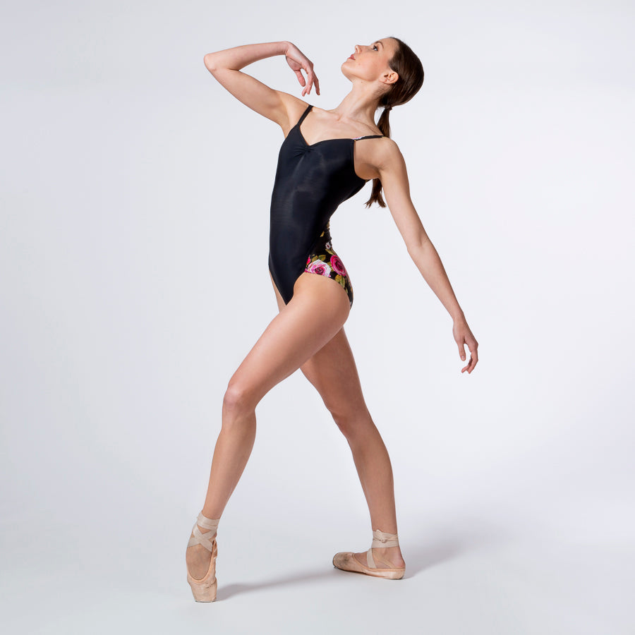 Floral Wrap Seam Leotard 911
