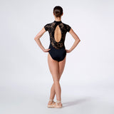Lace Oval Back Leotard 1301
