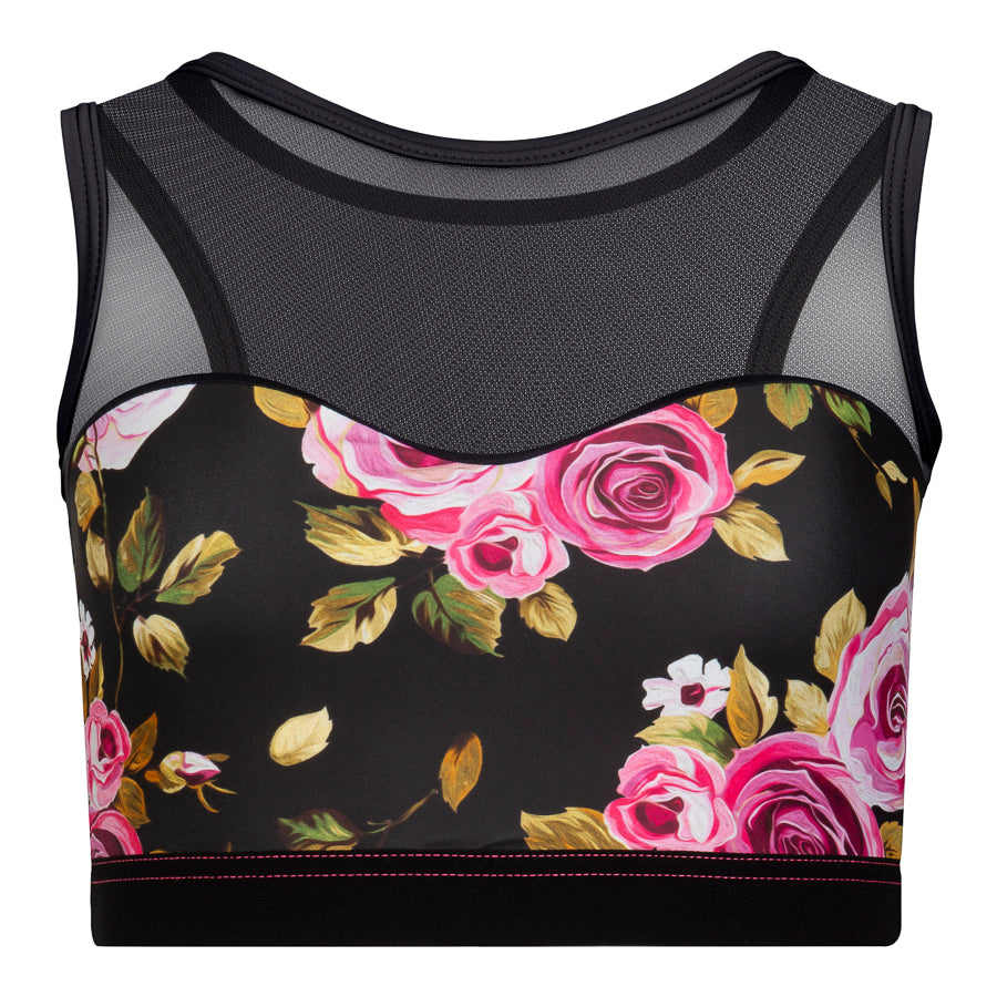 Shaped Front Crop Top Floral Print
