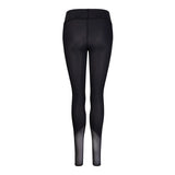 Angled Mesh Leggings Black