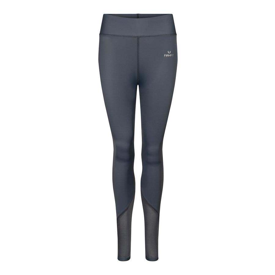 Angled Mesh Leggings Grey