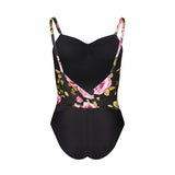 Wrap Back Camisole Leotard Rose Print