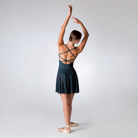 323 Crossed Open Back Leotard Black