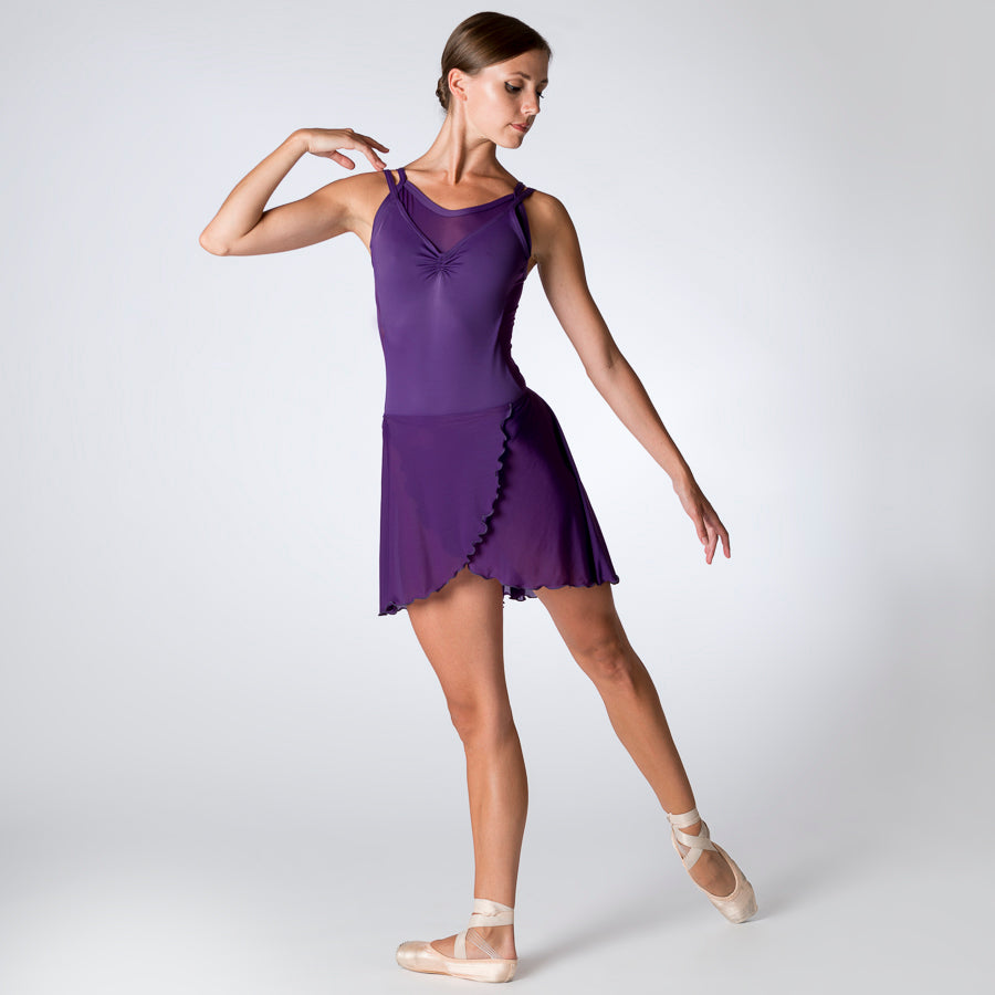 Purple Layered Mesh Leotard 906P