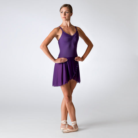 Purple Gathered Camisole Leotard 1800P