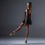 Elegant V Back Skirted Leotard