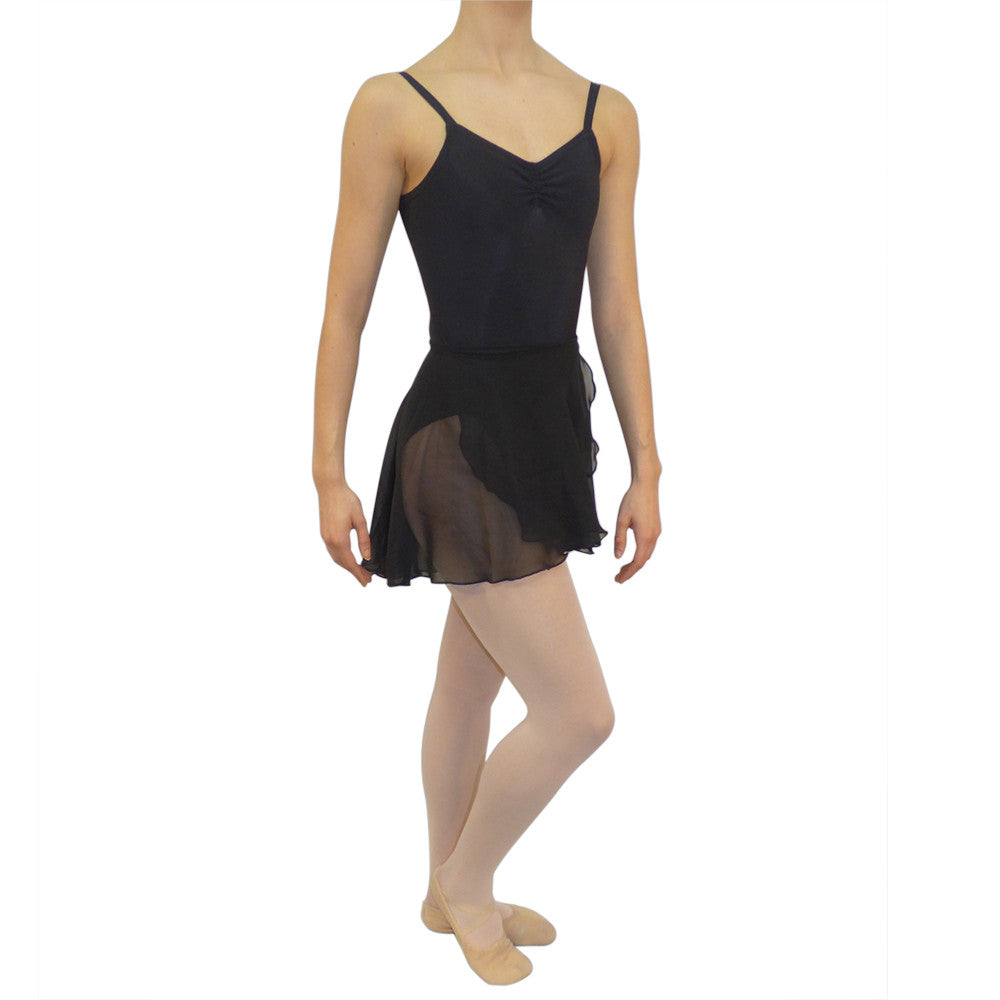 Ballet Wrap Skirt Black Chiffon