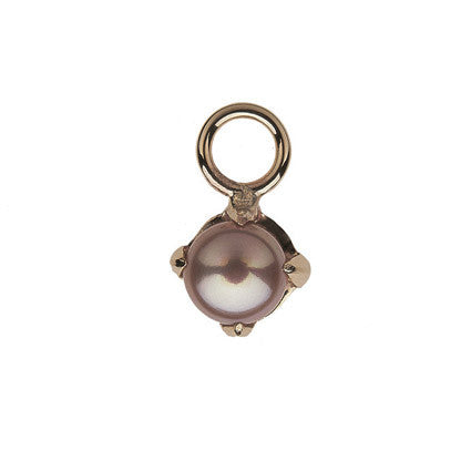 Claw Stone Drop/pink pearl
