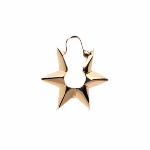Big Star Earring 9ct Gold