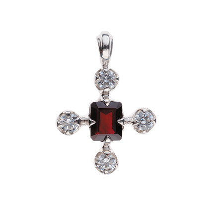Edwardian Pendant/diamond, ruby