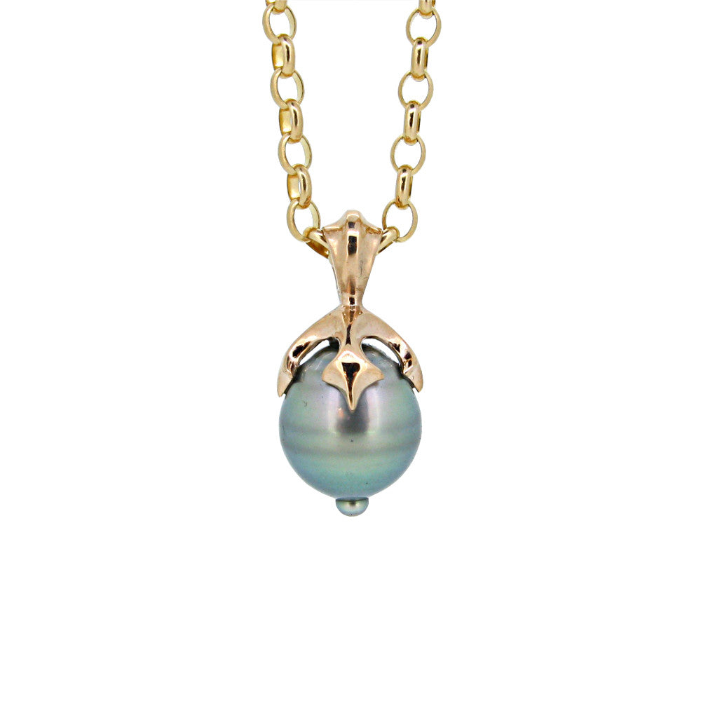 Large Majesty Pendant with Tahitian pearl