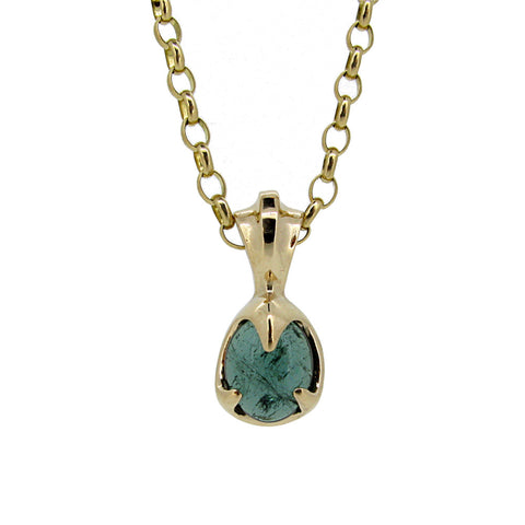 Siren Pendant with Teal Tourmaline