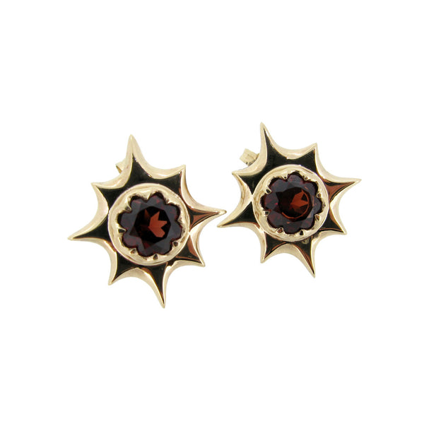 Miranda Stud earrings with Garnets