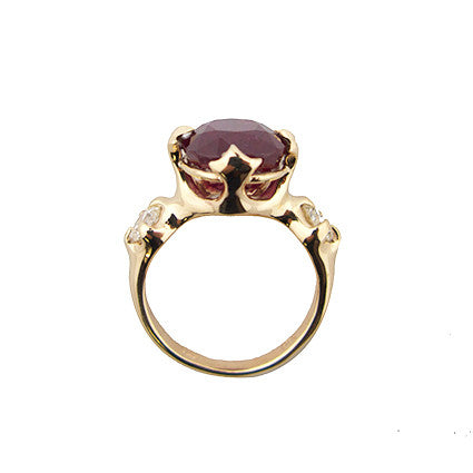 Edwardian Majesty ring/madagascan ruby, diamond