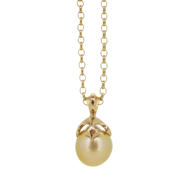 Large Majesty pendant set with Gold South Sea pearl, 9ct