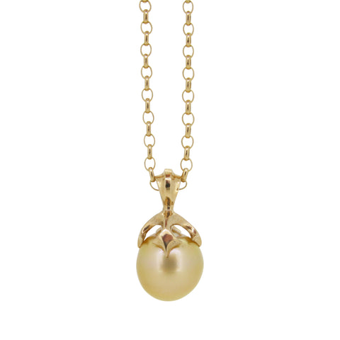 Large Majesty pendant set with Gold South Sea pearl