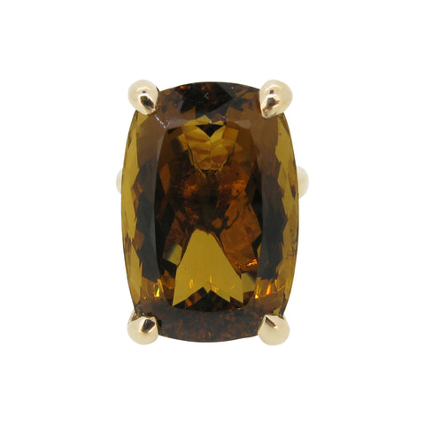 The Rock Ring, 9ct, smokey quartz