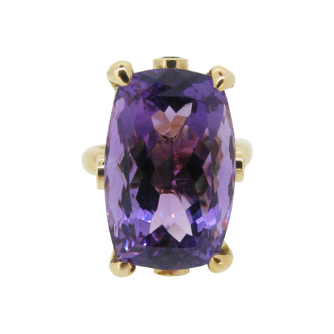 The Rock Ring, 9ct, amethyst, tsavorite garnet