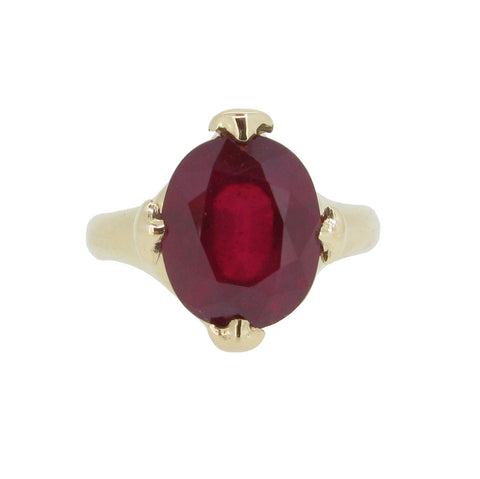 Majesty Ring with madagascan Ruby