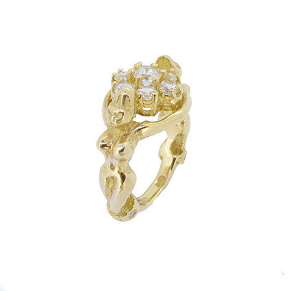 Goddess ring/diamonds