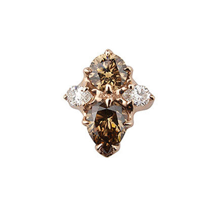 Special Cognac Diamond Ring
