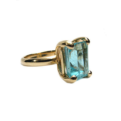 The Rock Ring/aquamarine