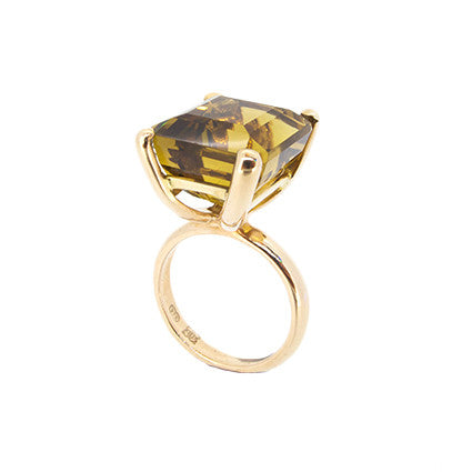 The Rock Ring/citrine