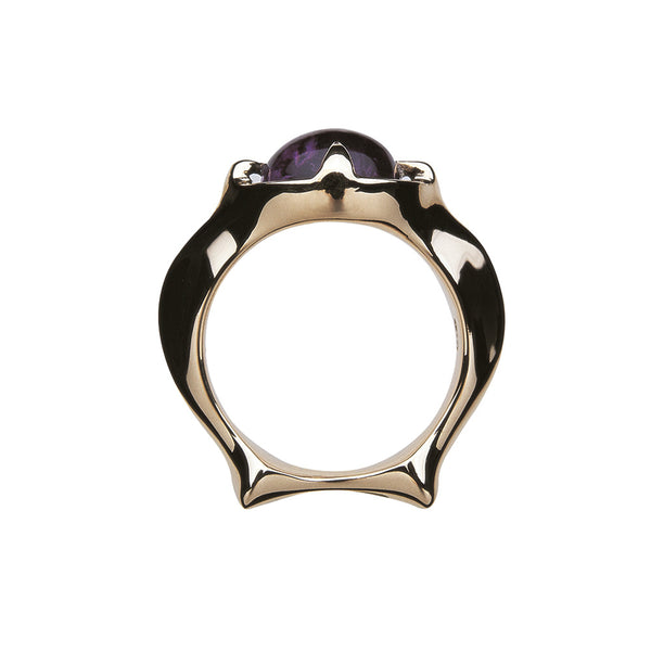 Skeletal Ring/amethyst
