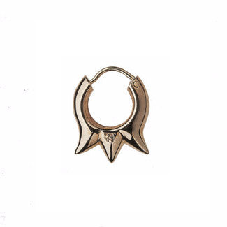 Devil Earring, 9ct gold, each