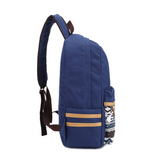 Navy Blue Daypack Aztec Canvas Backpack Travel Bag