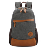 Vintage Large Canvas Backpack School Bag Travel Daypack