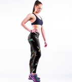 Punk Style Skeleton Printed Sports Yoga Leggings