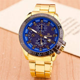 Cool Mens Gold Band Watch