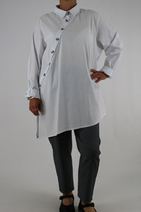 Smart Shirt Top Tunic White OneSize 16 18 20 22 22