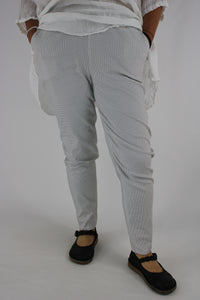 Smart Pull On Trousers OneSize 16 18 20 White with Black Dots