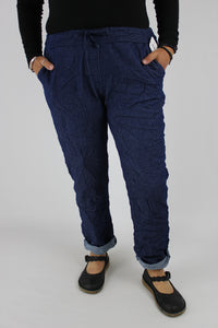 Italian Magic Trousers Stretch Loungewear Joggers Plus Size 12 14 16 18 20 Distressed Denim