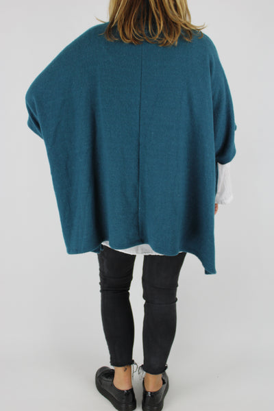 Made in Italy Over Top Poncho Style Cosy OSFA