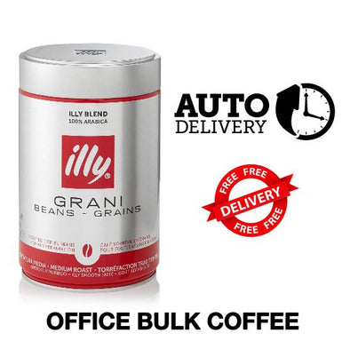 OFFICE BUNDLE - 10 cartons (15 Kg) of illy coffee 20% off and free delivery - Auto delivery