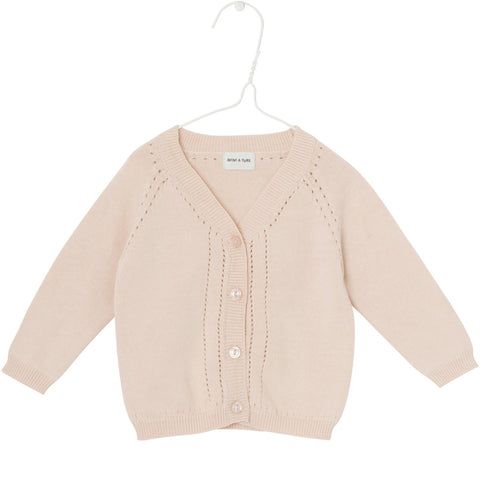 Mini A Ture, Baby Brinette Cardigan, Pale Dogwood Rose