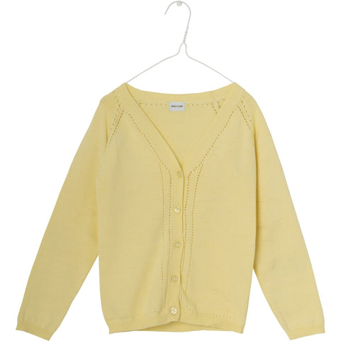 Mini A Ture, Kids Brinette Cardigan, Pale Banana