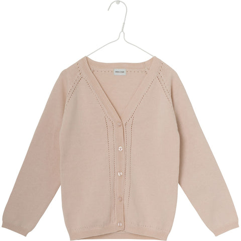 Mini A Ture, Kids Brinette Cardigan, Pale Dogwood Rose