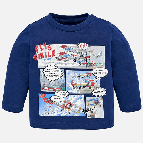 Mayoral Baby Boys Long Sleeve T-Shirt: Cartoon