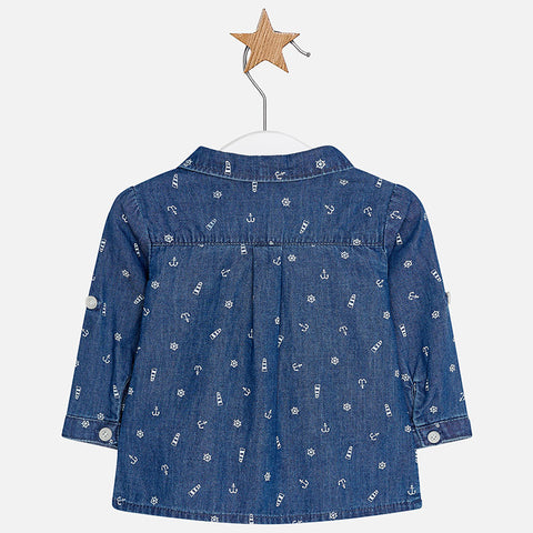 Mayoral Newborn Baby Denim Shirt