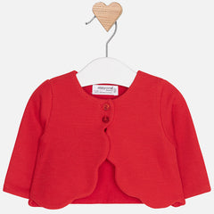 Mayoral Newborn Baby Girl Knit Cardigan: Paprika