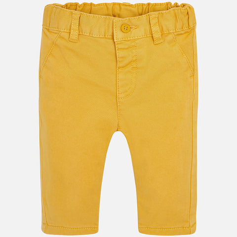 Mayoral Newborn Baby Boy Chinos: Mustard
