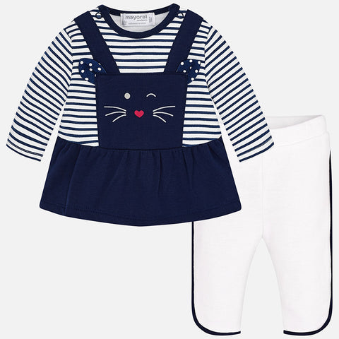 Mayoral Newborn Baby Girl leggings skirt set