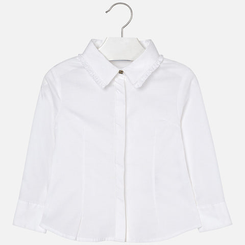 Mayoral Girls Elastic Poplin Blouse