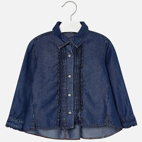 Mayoral Girls Denim Blouse