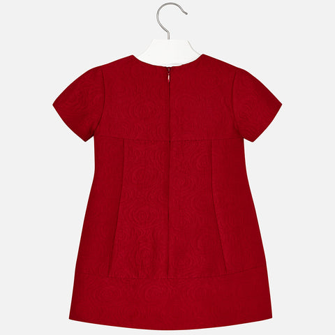 Mayoral Girl Red Jacquard Dress