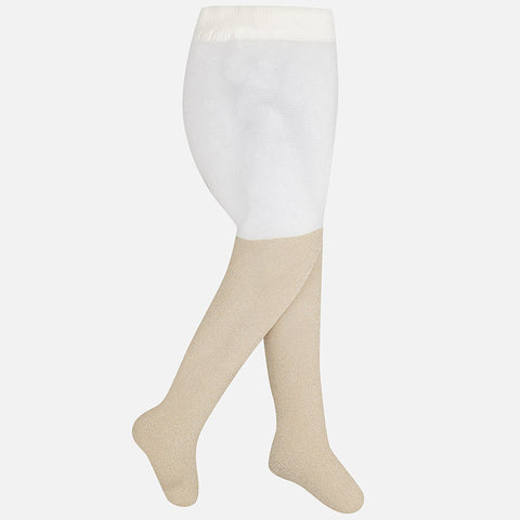 Mayoral Champagne Lurex Tights